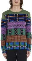 Comme des Garcons Colour Block Patchwork Pullover