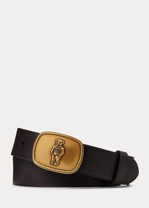 Ralph Lauren Sweater Bear Leather Belt