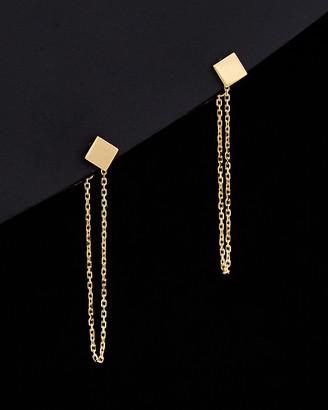 Italian Gold 14K Square Earrings