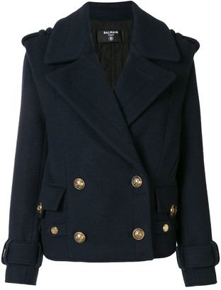 Balmain Cropped Double-Breasted Jacket