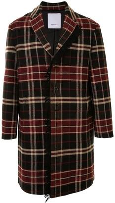 Ports V Checkered Single Breasted Coat
