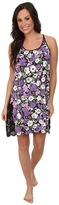 Midnight by Carole Hochman Flourishing Florals Lace Embroidered Chemise