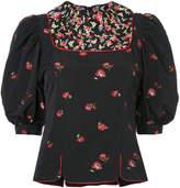 G.V.G.V. floral jacquard blouse