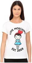 Love Moschino Girl Graphic T-Shirt with Writing