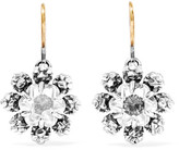 Bottega Veneta Oxidized Sterling Silver Crystal Earrings - one size