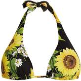 Dolce & Gabbana Sunflower-print halterneck bikini top