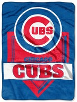 """Northwest Company The Chicago Cubs 60"""" x 80"""" Home Plate Raschel Plush Blanket"""