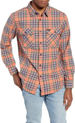 Brixton Bowery Plaid Flannel Button-Up Shirt