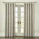 Crate & Barrel Silvana Grey Silk Curtain Panel