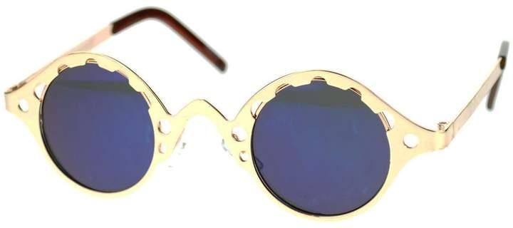 4ad8881b0b SA106 Steam Punk Vintage Style Retro Metal Round Circle Sunglasses