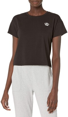 Juicy Couture Women's Short Sleeve Cropped Crown Logo T-Shirt
