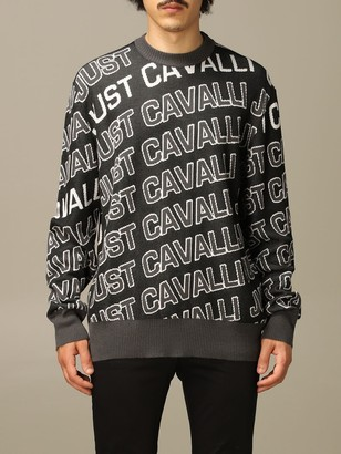 Just Cavalli Sweater Pullover With All Over Logo