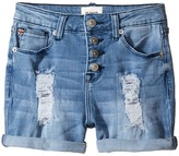 Hudson Double Roll Cuff High Waisted Destructed Shorts in Twilight (Big Kids)
