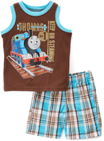 Children's Apparel Network Thomas & Friends 'Keep on Steaming' Tank & Shorts - Infant & Toddler