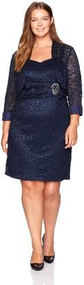 Jessica Howard Women's Size Lace Bolero Jacket Dress