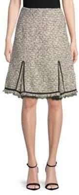 Giambattista Valli Tweed Slit Skirt