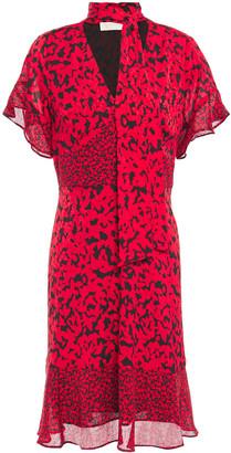 MICHAEL Michael Kors Tie-neck Printed Georgette Dress