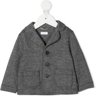 Il Gufo Chevron-Knit Single Breasted Blazer