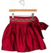 Papo d'Anjo Girls' Silk Belted Skirt