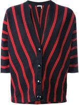Chloé striped short-sleeve cardigan - women - Cotton - S