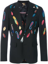 Paul Smith feather embroidered blazer - men - Spandex/Elastane/Wool - 38