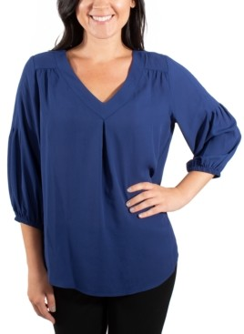 NY Collection High-Low Blouse