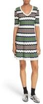 M Missoni Zigzag Stripe Knit A-Line Dress