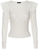 Lahive Danni Winter White Semi Sheer Stretch Lace Top