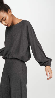 Terez Shimmer Knit Waffle Sweatshirt