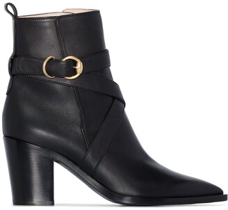 Gianvito Rossi Western-Style 70mm Ankle Boots