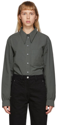 Lemaire Grey Pointed Collar Shirt