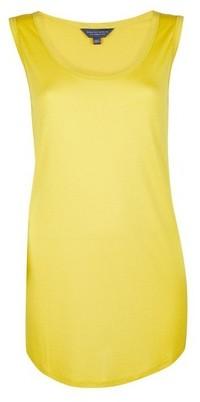 Dorothy Perkins Womens Tall Yellow Viscose Vest, Yellow