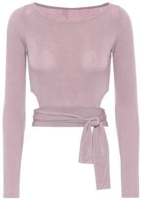 Alo Yoga Barre tie-front top
