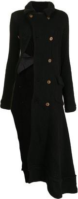 Comme Des Garçons Pre-Owned Twisted Wool-Blend Knit Coat
