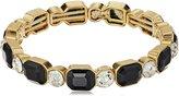 "Anne Klein Bright Nights II"" Gold-Tone Stone Stretch Bracelet"