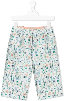 Hucklebones London Floral Cropped Trousers