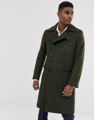 Devils Advocate premium wool blend oversized collar military jacket