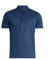 Etro Linen-jersey polo shirt