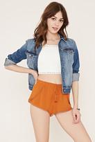Forever 21 Crochet-Trim Tulip Shorts