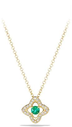 David Yurman Venetian Quatrefoil Necklace with Diamonds in 18K Gold