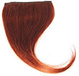 Remhumhai,One Piece Clip-on Hair Bangs(Fringes),Skew Bangs,Hair Extensions Color:Sunset Red,100% Human Hair,Remy Hair
