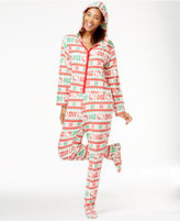 Hello Kitty Christmas Hooded Footed Jumpsuit