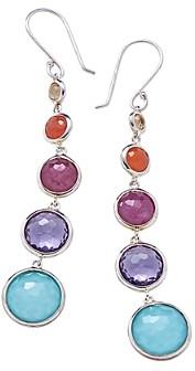 Ippolita Sterling Silver Lollipop Lollitini Multi-Gemstone Drop Earrings
