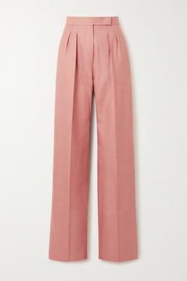 Max Mara Josef Pleated Camel Hair And Silk-blend Twill Wide-leg Pants - Blush