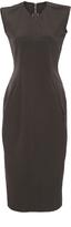 Rick Owens Dark Dust Cotton Sleeveless Midi Dress