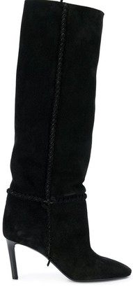 Saint Laurent heeled knee length boots