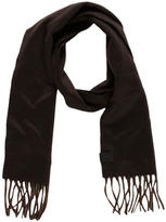 Gucci Fringe-Trimmed Cashmere Scarf w/ Tags