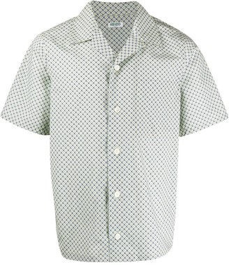 Kenzo Monogram Tiger-print cotton shirt