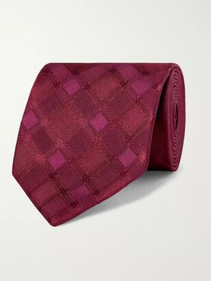 Charvet 8.5cm Checked Silk Tie