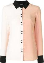 Twin-Set two tone collared shirt - women - Silk - 42